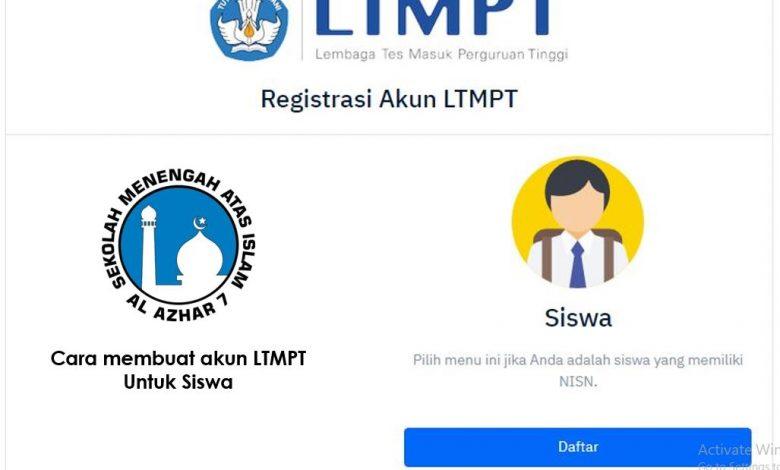 cara membuat akun LTMPT untuk siswa