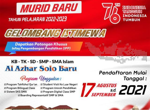 Formulir Pendaftaran Murid Baru 2022/2023 Gelombang Istimewa